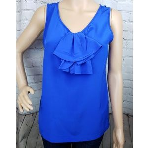 Kate Spade Blue Bow Blouse 100% Silk